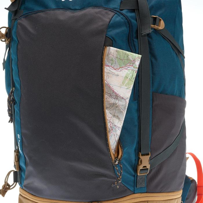 Sac à dos Trekking  TRAVEL 500 Homme  70 litres cadenassable  bleu - 1110034