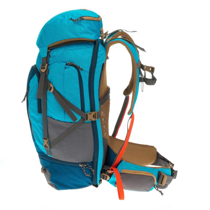 Sac à dos Trekking TRAVEL 500 Femme 50 litres cadenassable bleu