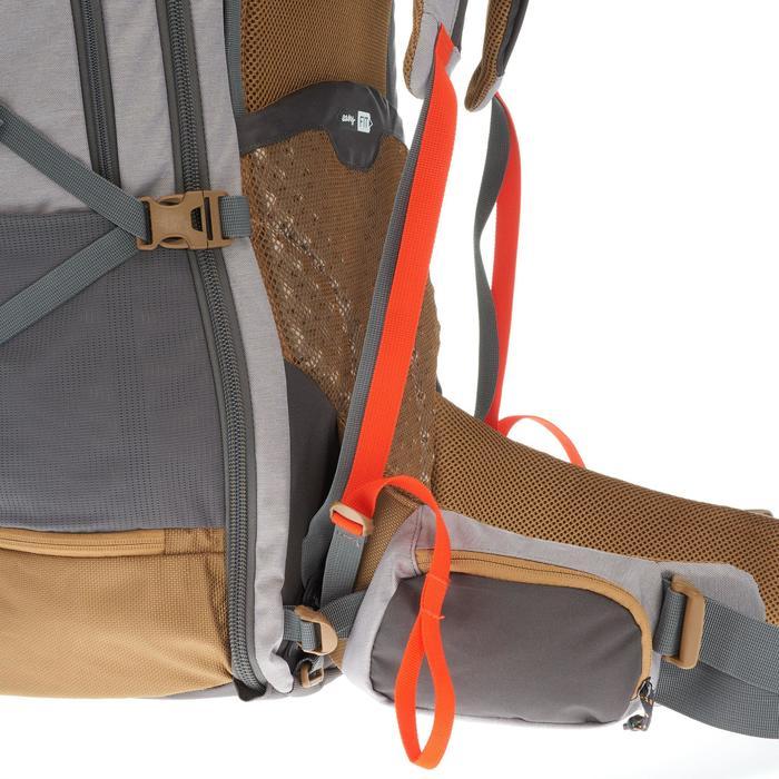Sac à dos Trekking Travel 500 Femme 70 litres cadenassable gris - 1110055
