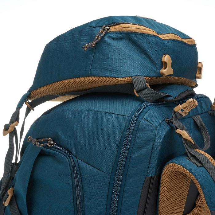 Sac à dos Trekking  TRAVEL 500 Homme  70 litres cadenassable  bleu - 1110060