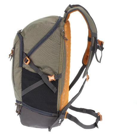 sac dos n hiking 30 litres gris kaki quechua. Black Bedroom Furniture Sets. Home Design Ideas