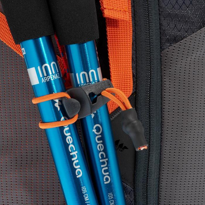 Wandelrugzak MH500 40 liter zwart/oranje