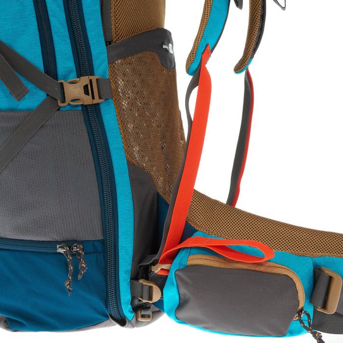 Backpacking-Rucksack Travel 500 abschließbar 50 Liter Damen blau