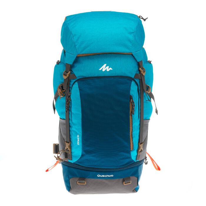 Sac à dos Trekking TRAVEL 500 Femme 50 litres cadenassable bleu - 1110137