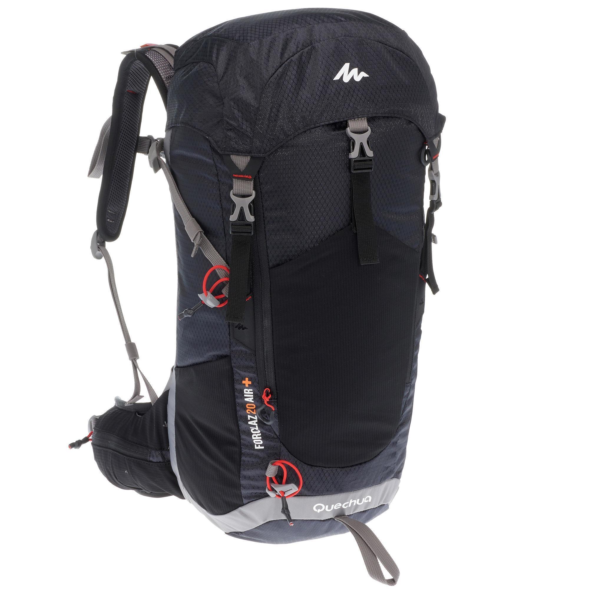 sac dos forclaz 20 litres air noir quechua. Black Bedroom Furniture Sets. Home Design Ideas