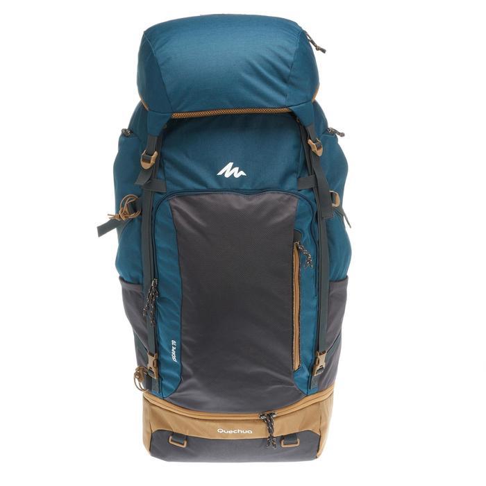 Sac à dos Trekking TRAVEL 500 Homme 70 litres cadenassable bleu