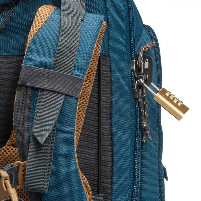 Sac à dos Trekking  TRAVEL 500 Homme  70 litres cadenassable  bleu - 1110188