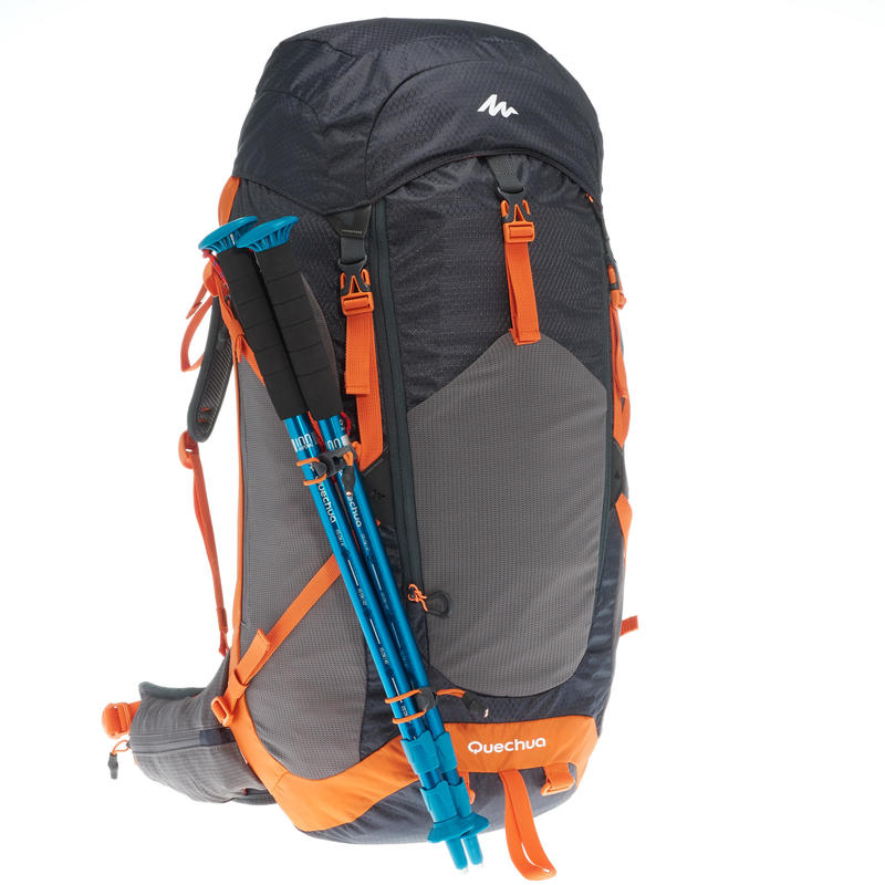 Hiking Backpack 40L (with Raincover) MH500 - Black/Orange