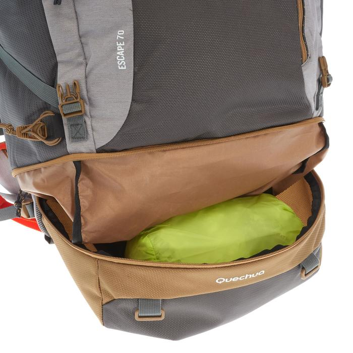 Travel 500 Women's 70L Lockable Backpack - Grey - 1110223
