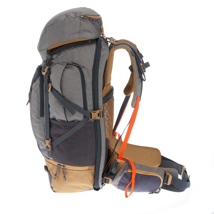 Sac à dos Trekking TRAVEL 500 Homme 50 litres cadenassable gris - 1110241