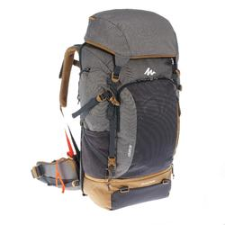 Travel 500 50 Litre Men's Lockable Trekking Backpack - Grey