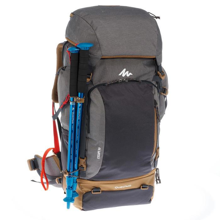 Sac à dos Trekking TRAVEL 500 Homme 50 litres cadenassable gris - 1110246