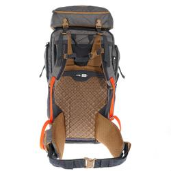 Backpack voor heren Travel 500 50 liter vergrendelbaar grijs