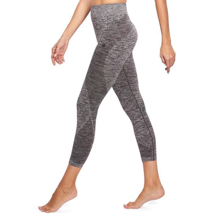 Legging YOGA sans coutures femme 7/8 chiné - 1110501
