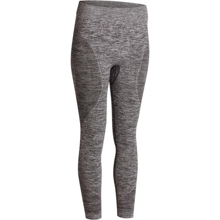 Legging YOGA sans coutures femme 7/8 chiné - 1110543