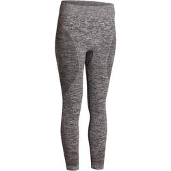 7/8-Leggings Yoga Damen nahtlos meliert
