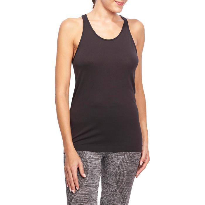 Débardeur sans coutures Yoga femme gris/bleu - 1110546
