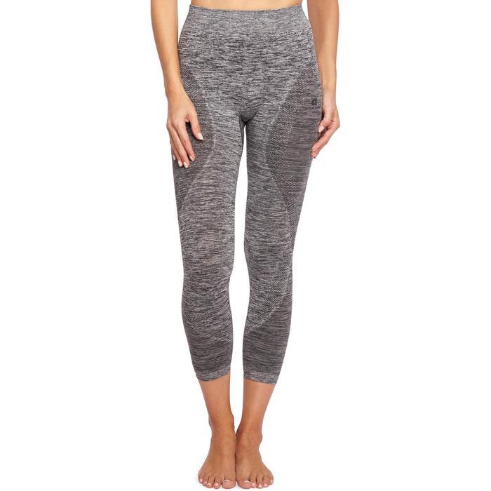 Legging YOGA sans coutures femme 7/8 chiné - 1110552