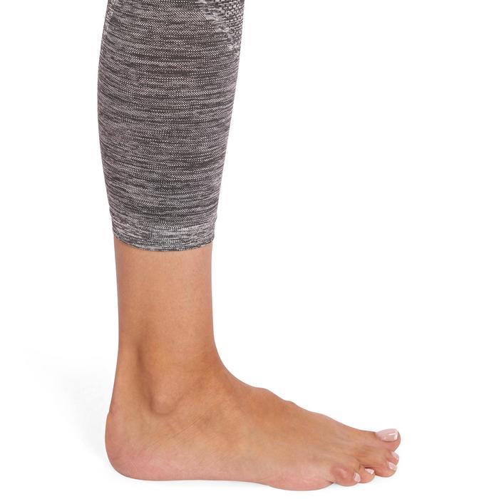 Legging YOGA sans coutures femme 7/8 chiné - 1110556