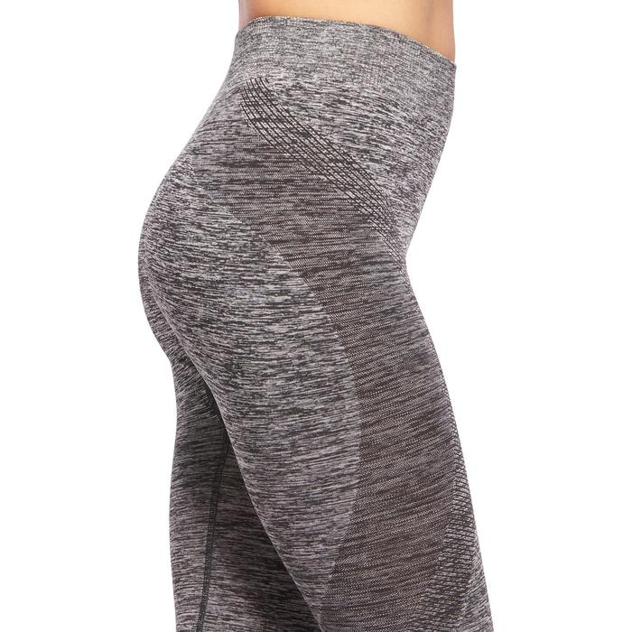 Legging YOGA sans coutures femme 7/8 gris chiné