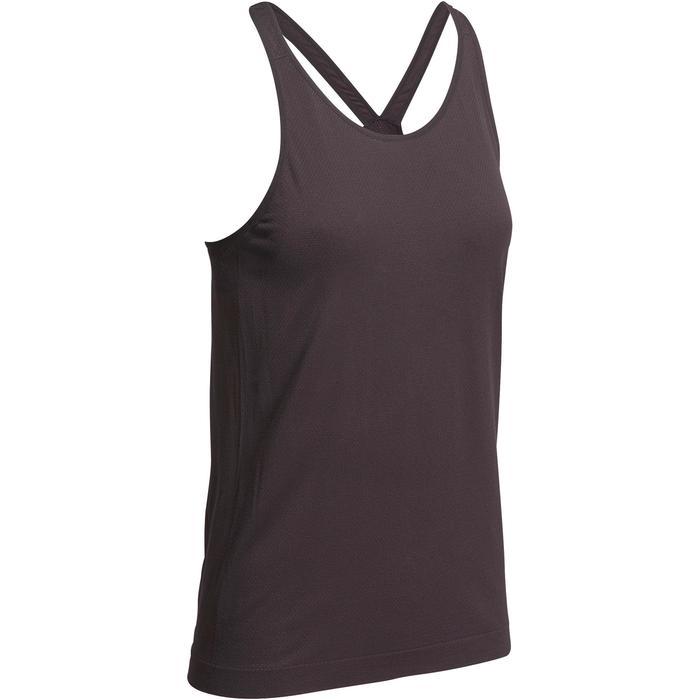 Débardeur sans coutures Yoga femme gris/bleu - 1110575