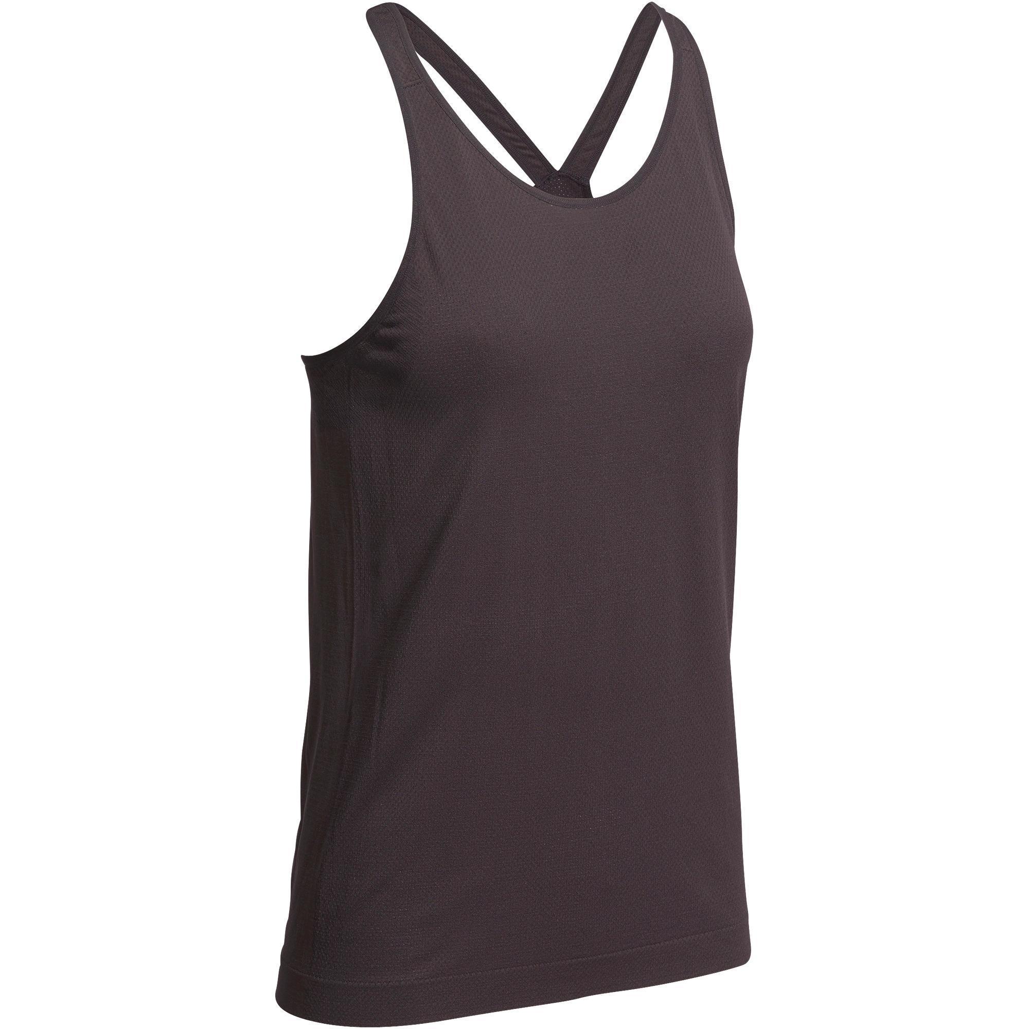 Domyos Naadloze top Yoga+ voor dames kopen