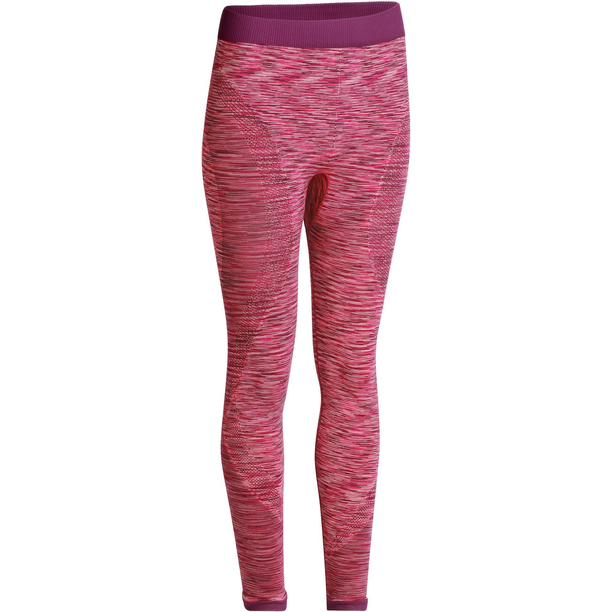 069095a30a9845 Yoga+ 500 Women's Seamless 7/8 Leggings - Pink | Domyos by Decathlon