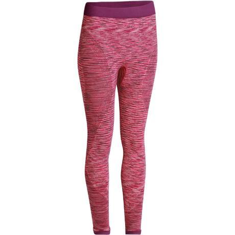 4b60baebff67e Yoga+ 500 Women's Seamless 7/8 Leggings - Pink | Domyos by Decathlon