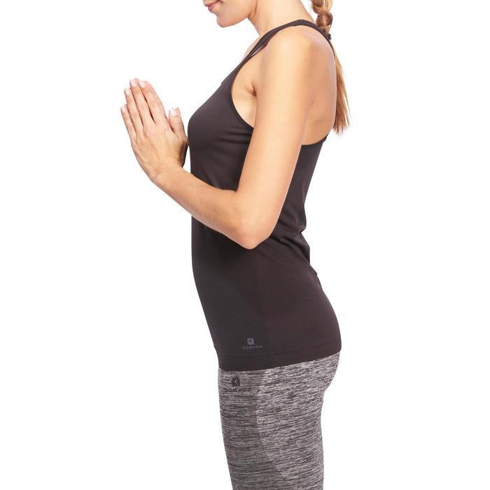 Débardeur sans coutures Yoga femme gris/bleu - 1110598