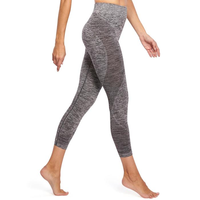 Legging YOGA sans coutures femme 7/8 chiné - 1110599