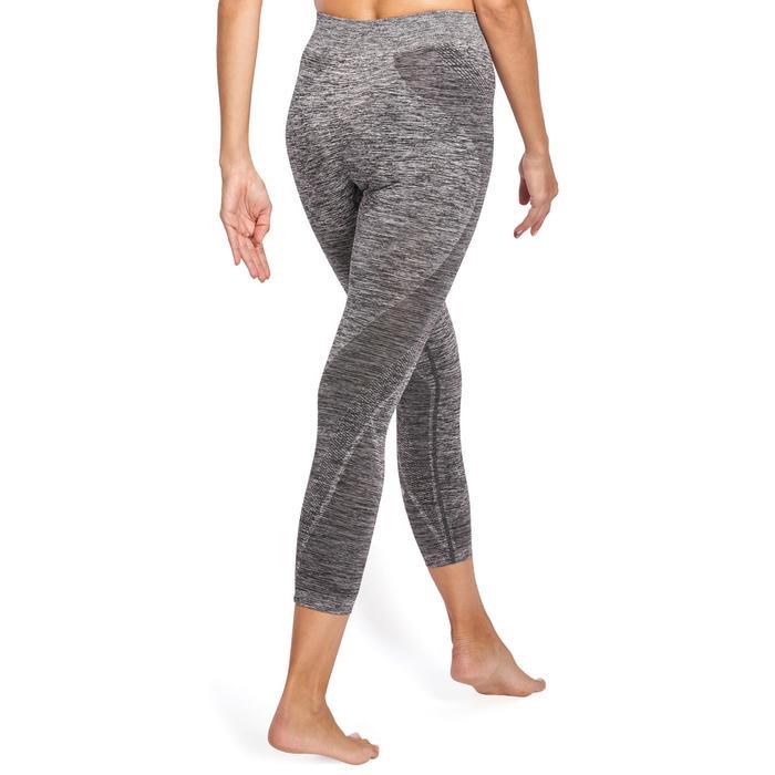 Legging YOGA sans coutures femme 7/8 chiné - 1110602