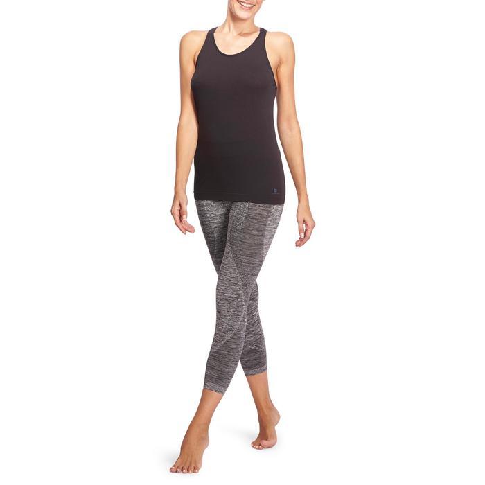 Legging YOGA sans coutures femme 7/8 chiné - 1110614