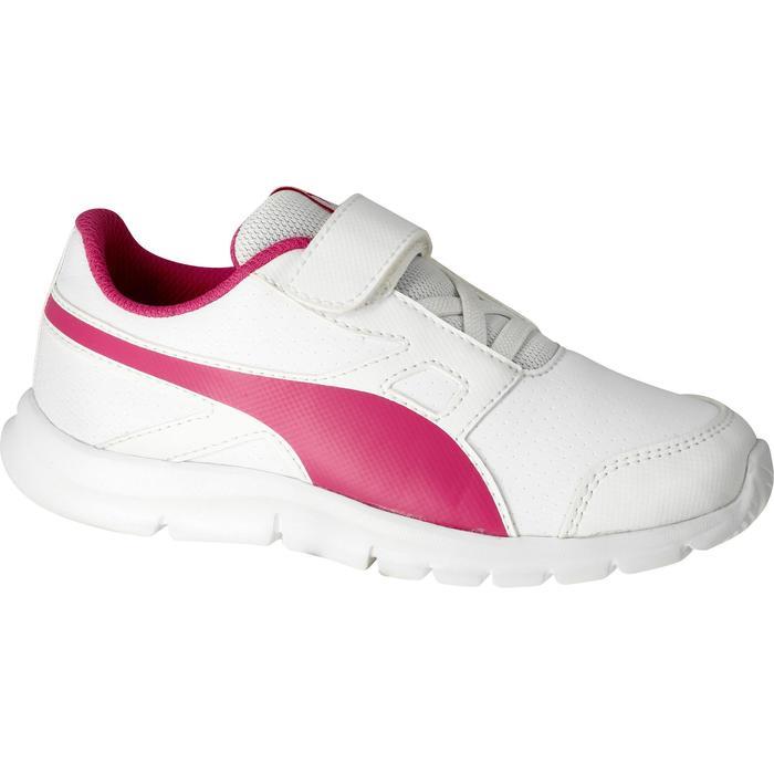 Chaussures marche sportive enfant Flex Racer blanc /  rose - 1110674