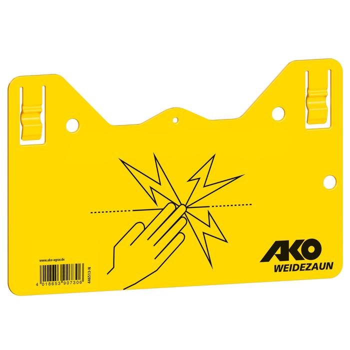 Plaque de signalisation clôture électrique équitation jaune x1 - 1110701