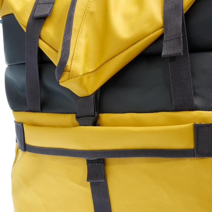 Reistas voor trekking Extend 80 tot 120 liter geel