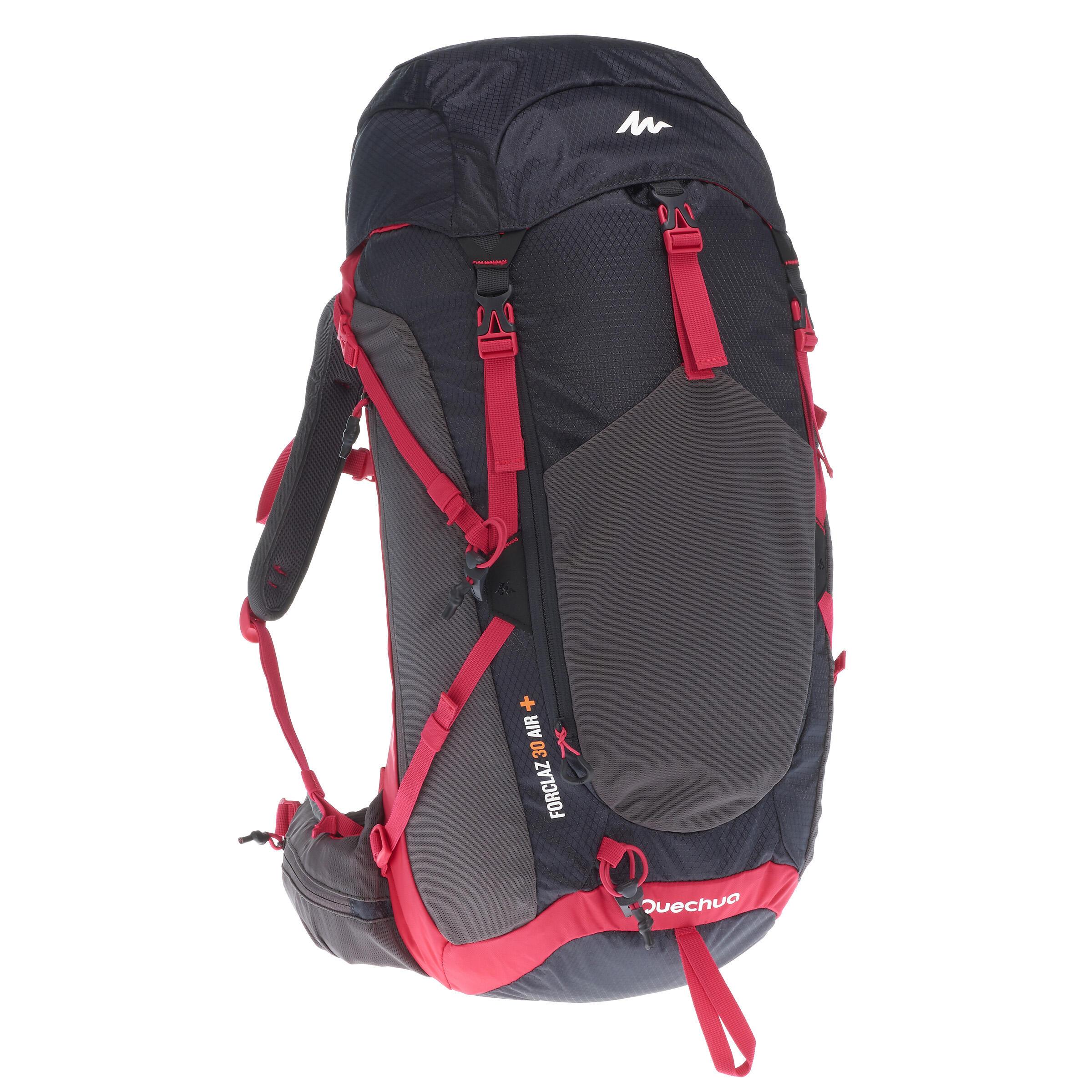 13af6a2879e Quechua Wandelrugzak voor bergtochten MH500 30 liter dames zwart roze |  Decathlon.nl