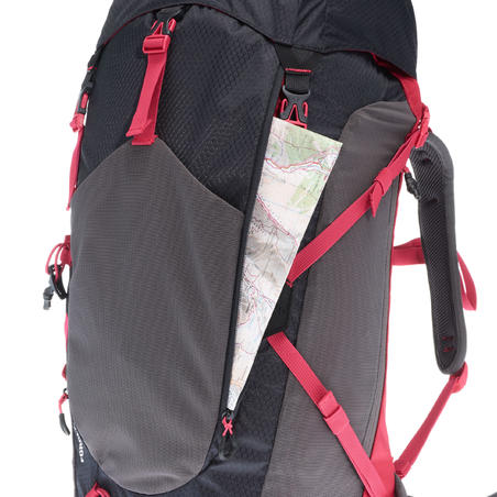MH500 Women's 30L Mountain Hiking Backpack - Black/Pink