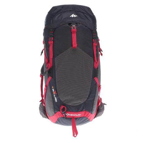 sac dos forclaz 30 litres air femme noir rose quechua. Black Bedroom Furniture Sets. Home Design Ideas