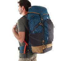 Mochila Trekking admite candado hombre Escape 70 litros Gris