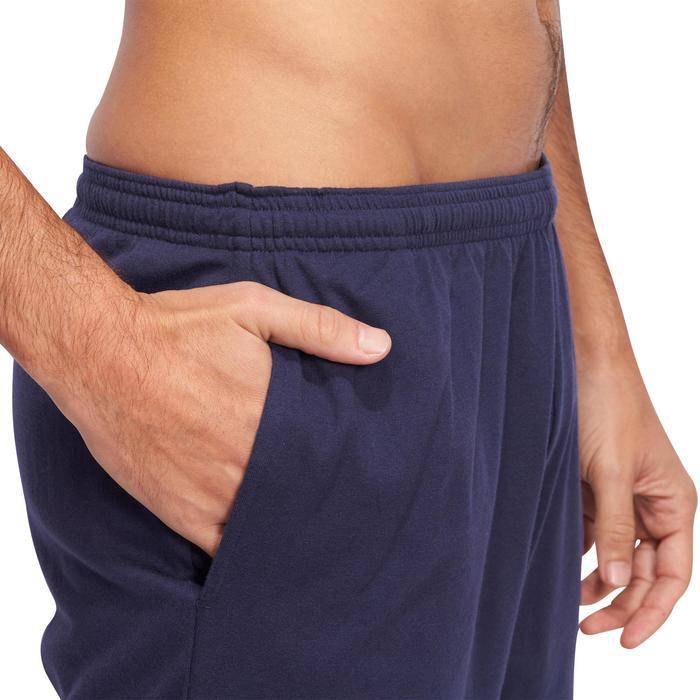 Sporthose kurz Gym 100 Regular Herren Fitness marineblau