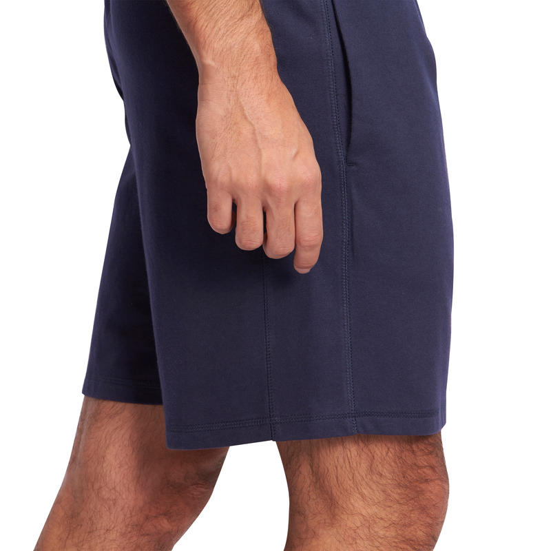 Above-the-Knee Gym & Pilates Shorts - Navy Blue
