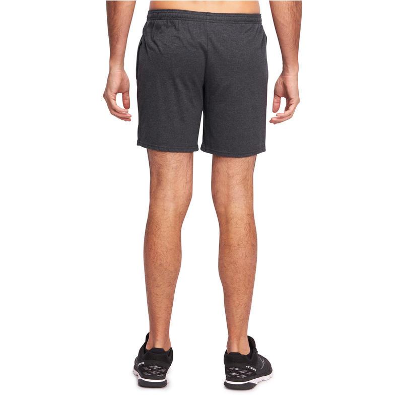 100 Mid-Thigh Regular-Fit Stretching Shorts - Dark Grey