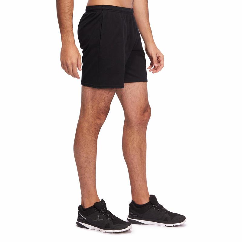 กางเกงกายบริหารที่เน้นการยืดเส้นทั่วไปความยาวระดับกลางต้นขารุ่น 100 (สีดำ)