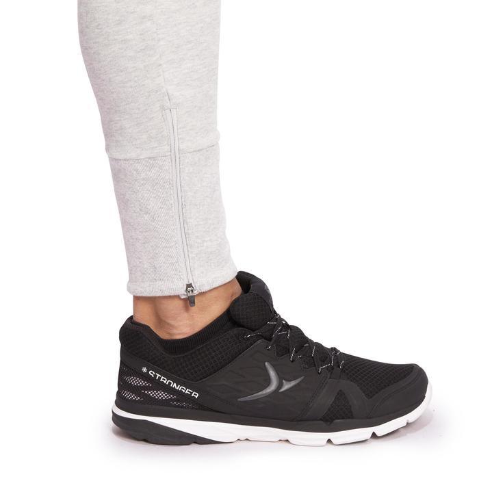 Skinny broek voor fitness en pilates heren lichtgrijs