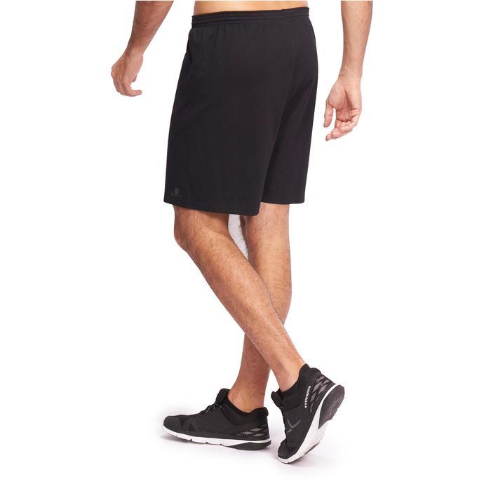 Halflange herenshort voor gym en pilates zwart