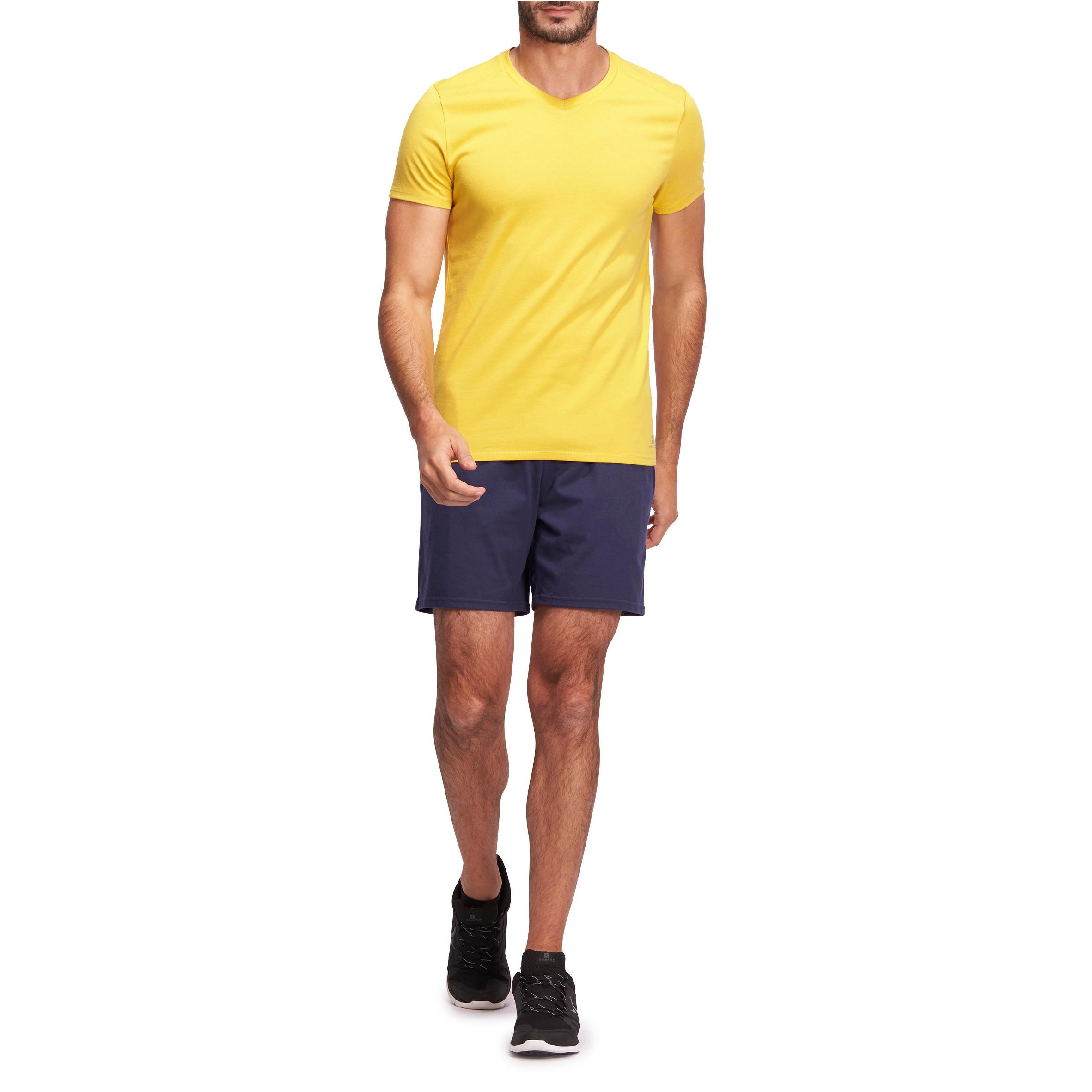 100 Mid-Thigh Regular-Fit Stretching Shorts - Navy Blue