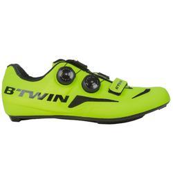 Zapatillas ciclismo CARRETERA 900 amarillo fluo