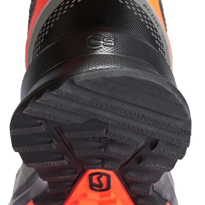Hardloopschoenen voor heren Run Active Grip kaki/rood