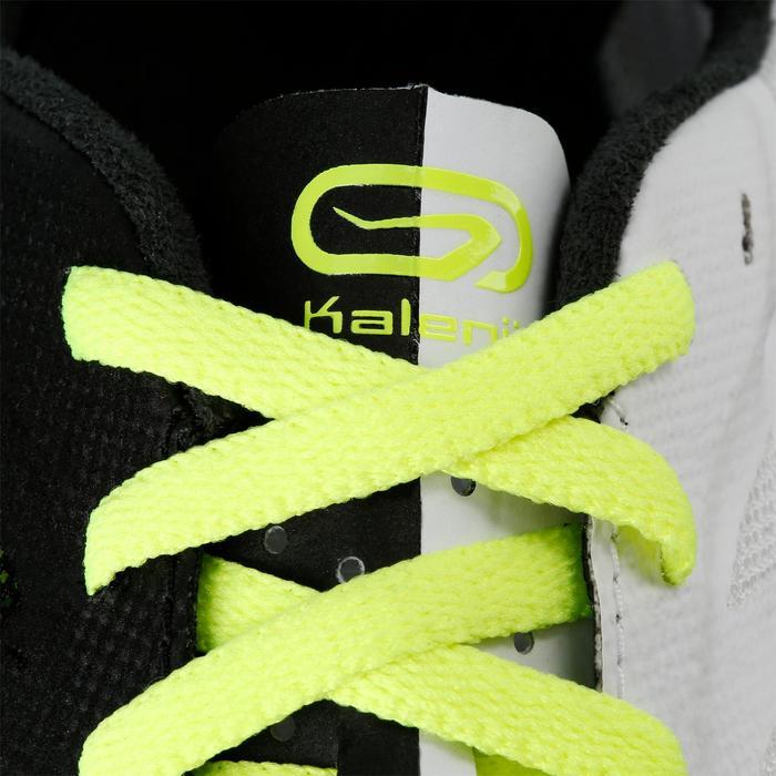 Atletiekspikes halve afstand zwart/geel/wit