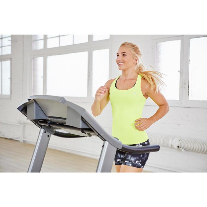 Cardiofitness top My Top voor dames fluogeel 100